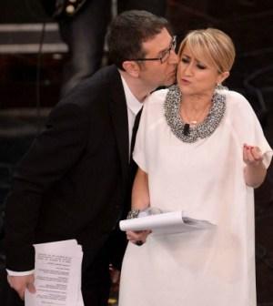 Un tenero bacio tra Fabio Fazio e Luciana Littizzetto