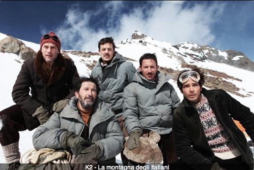 foto di gruppo fiction k2 la montagna degli italiani