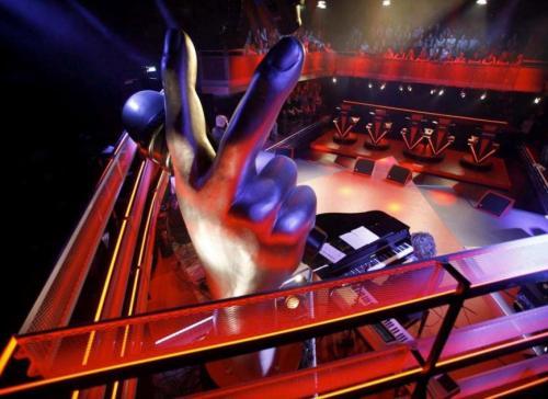 foto del palco di the voice