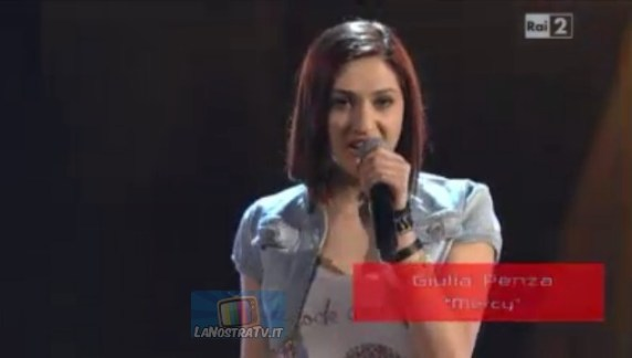 Foto di Giulia Penza a The Voice of italy