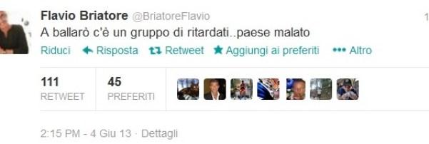 """Briatore contro Ballarò su Twitter: """"C'è un gruppo di ritardati"""""""