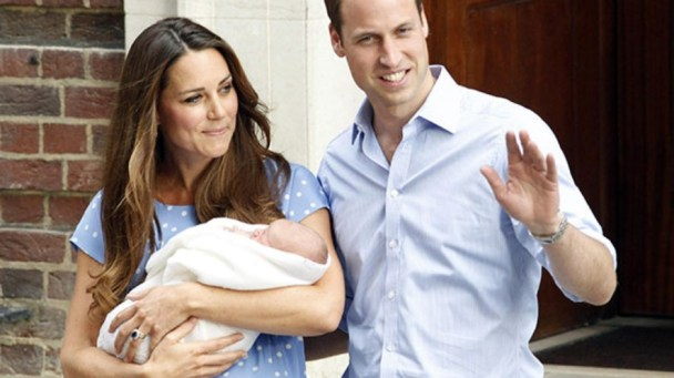 William e Kate con il royal baby