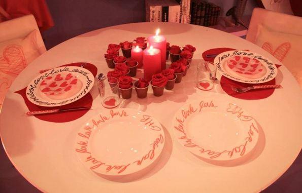 decorare tavola per san valentino