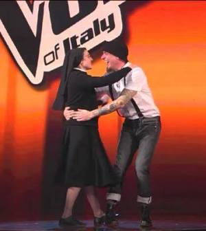 suor cristina e j ax a the voice of italy