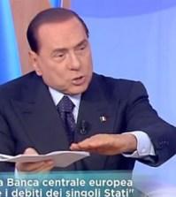 Silvio Berlusconi, show a Mattino Cinque