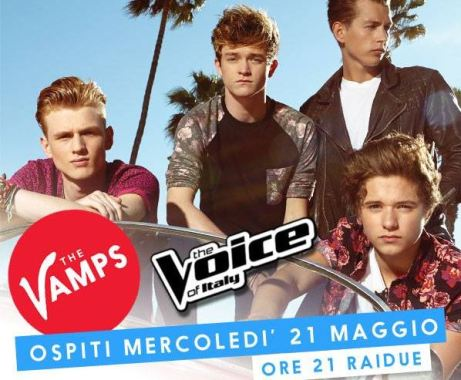 the vamps ospiti terzo live show the voice of italy