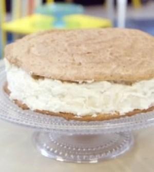 foto torta biscotto con pere e ricotta