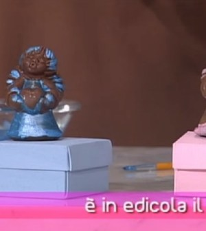 foto statuine di cioccolato