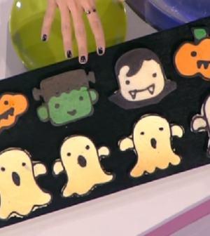 foto pancake di halloween