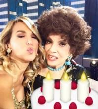 foto Barbara d'Urso e Gina Lollobrigida