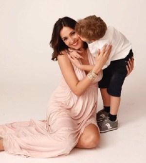 Foto Caterina Balivo e suo figlio