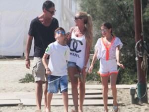 Foto Federica Panicucci e famiglia