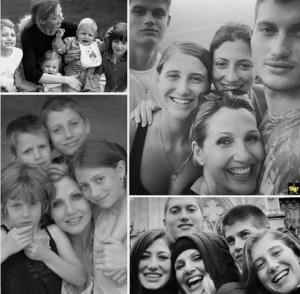 Foto Lorella Cuccarini con i suoi quattro figli