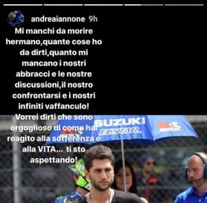 Foto messagio Andrea Iannone