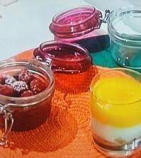 Foto bicchierini di lampone e mousse Benedetta Parodi Domenica In