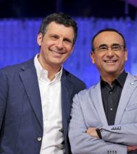 Foto Fabrizio Frizzi e Carlo Conti a Ieri e Oggi