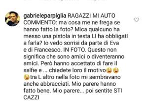 Gabriele Parpiglia risponde alle accuse di Massimiliano Caroletti