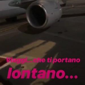foto Bianca Guaccero aereo