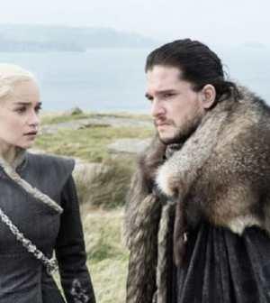 Foto Daenerys Targaryen e Jon Snow
