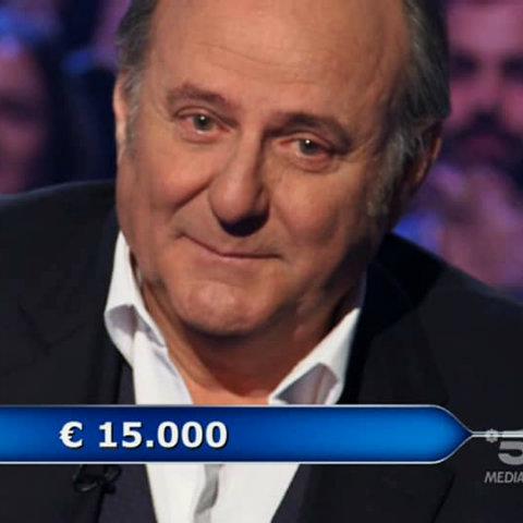 Chi vuol essere milionario, Gerry Scotti piange dopo aver aiutato un concorrente