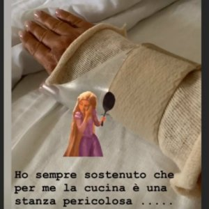 foto Paola Perego incidente ospedale