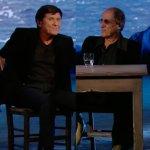 """Adriano Celentano dubbioso. Gianni Morandi: """"Devi cantare non parlare!"""""""