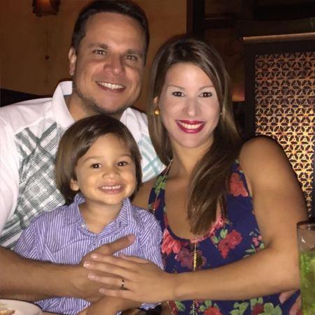 Anibal Medina y su familia