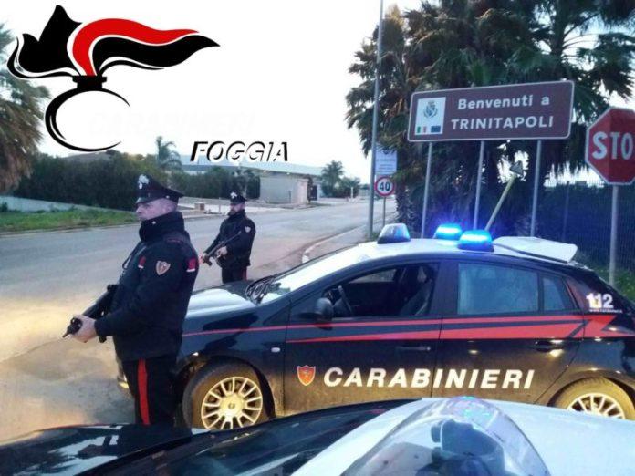 Duro colpo dei Carabinieri di Cerignola ai clan mafiosi di Trinitapoli dopo l'omicidio di De Rosa