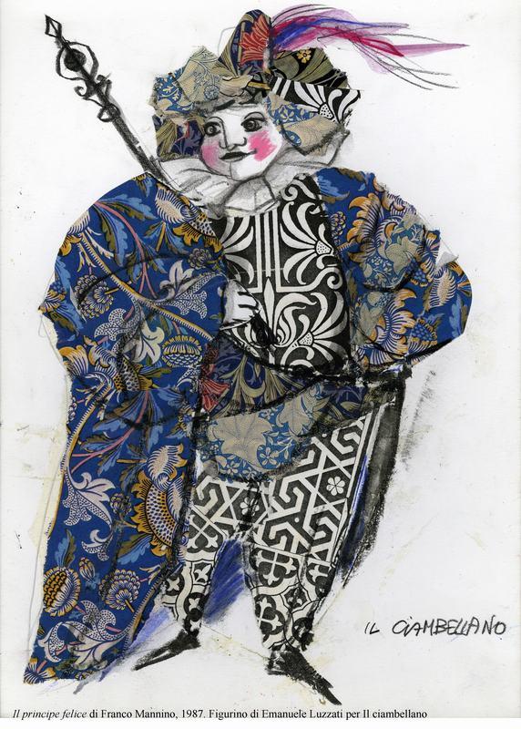 4-Il principe felice di Mannino, 1987. Figurino di Luzzati per Il ciambellano