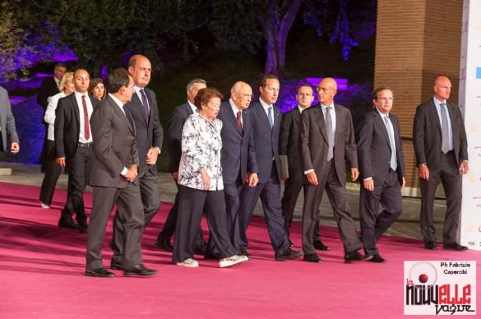 Il Presidente Giorgio Napolitano e la signora Clio
