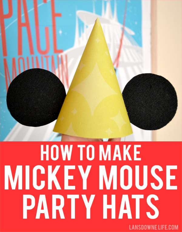 How To Make Mickey Mouse Ears Birthday Party Hats Lansdowne Life