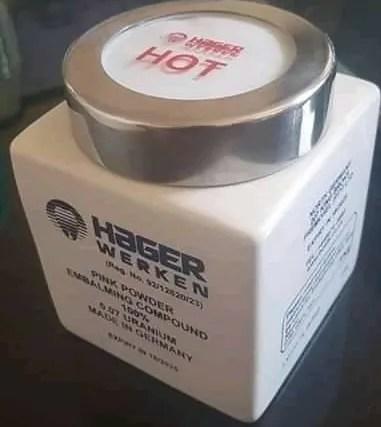 Hager Werken Embalming Powder