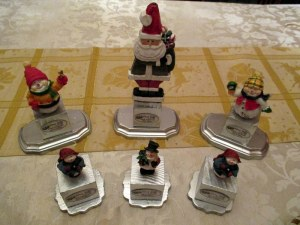 Holiday-themed trophies I made for the main and side tournament. This is why the tournament was so popular, right?