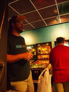 Matt holds court while Tim plays Getaway.