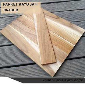 jual parket lantai kayu jati Grade B