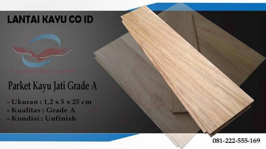 lantai parket kayu jati Grade A ukuran 25 cm
