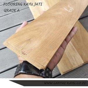 lantai kayu parket flooring jati Grade a