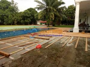 pemasangan lantai kayu bengkirai