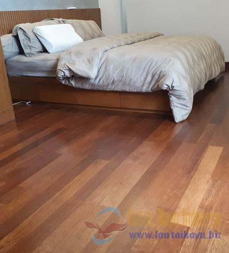 pemasangan lantai kayu merbau Flooring