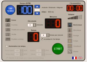 metronome en ligne gratuit - Percussions Corporelles
