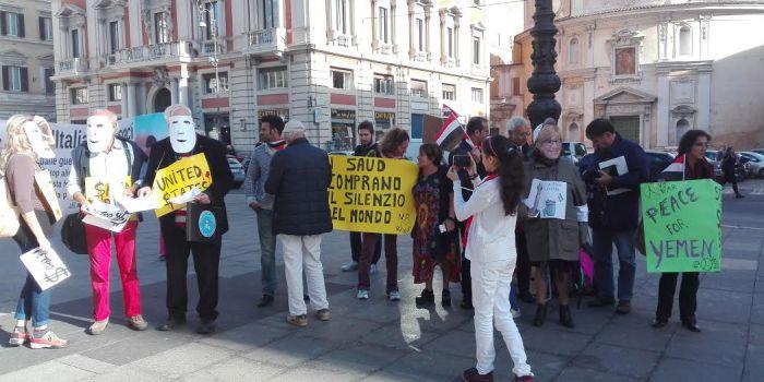 CITTADINI YEMENITI E RETE NO WAR IN PIAZZA OGGI A ROMA CONTRO LA PINOTTI: STOP ARMI AI SAUD