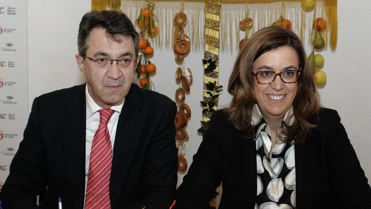 Los presidentes de las diputaciones de León y Palencia firman un acuerdo de colaboración. | ICAL