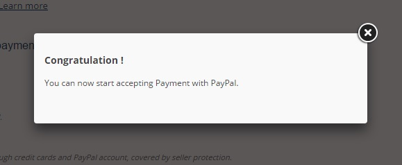 Confirmacion instalacion Paypal Prestashop