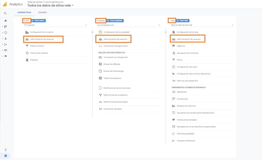 3 como conceder acceso a tu cuenta google analytics 3 niveles