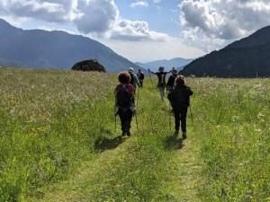 camminatori a Usseglio
