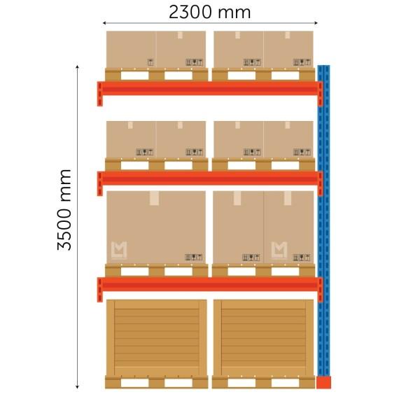 Boracs kaubaalusteriiuli jätkuosa FIN 3500x2300mm