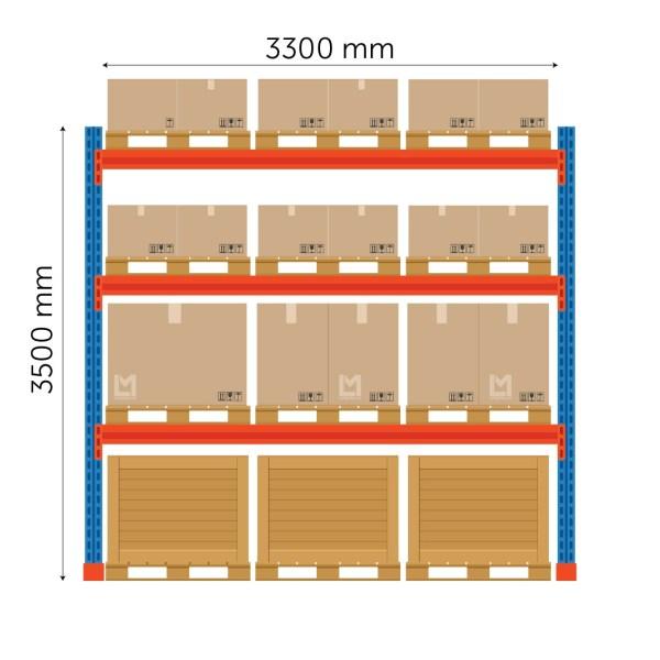 kaubaaluste riiuli põhiosa FIN 3500x3300mm