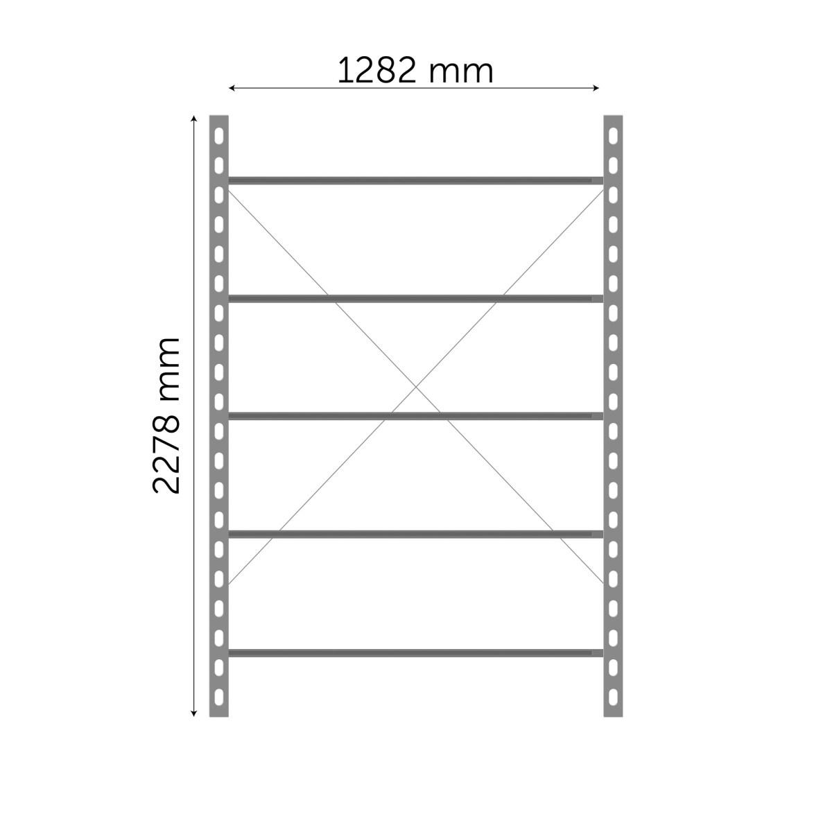 Moodulriiuli põhiosa 2278x1282mm