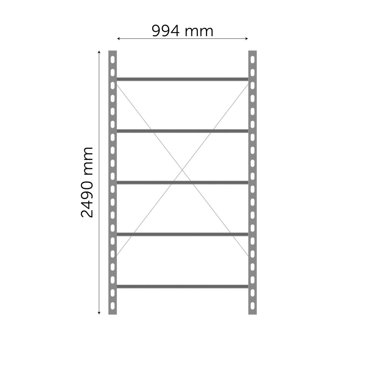 Moodulriiuli põhiosa 2490x994mm