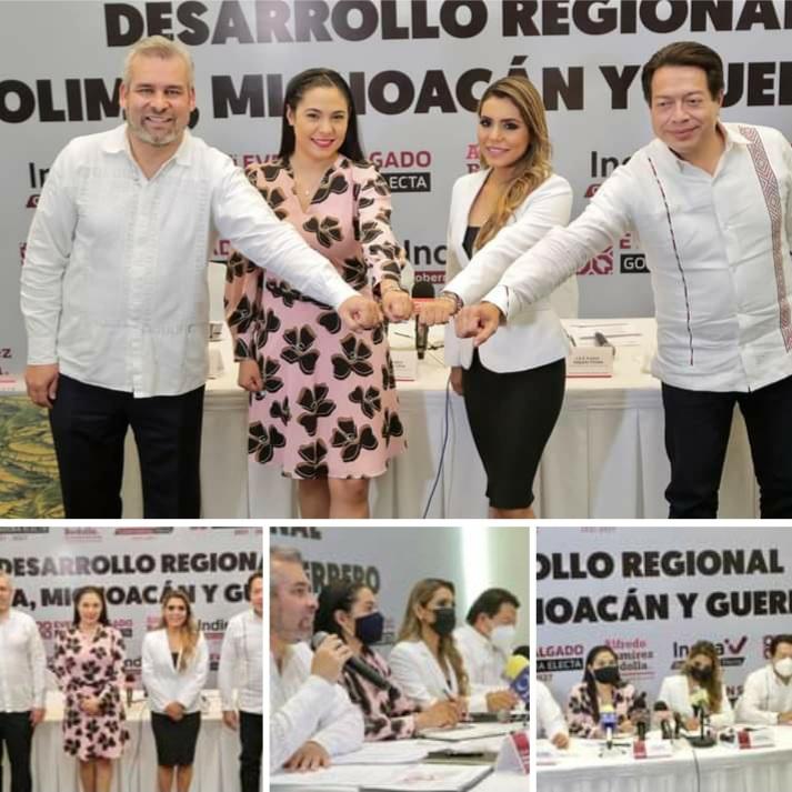 Michoacán, Guerrero y Colima acuerdan agenda conjunta para desarrollo del Pacífico.